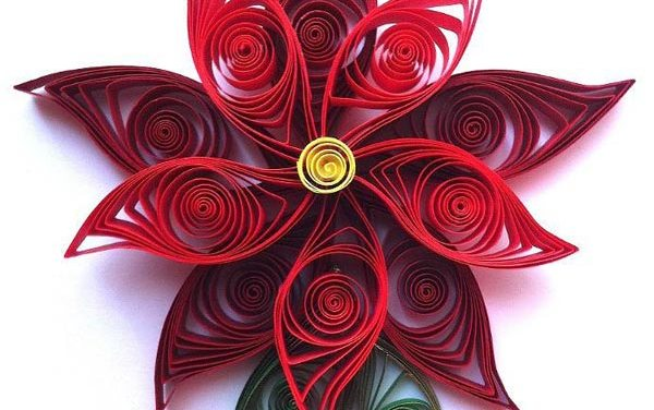 Paper Quilled Poinsettia Flower Tutorial