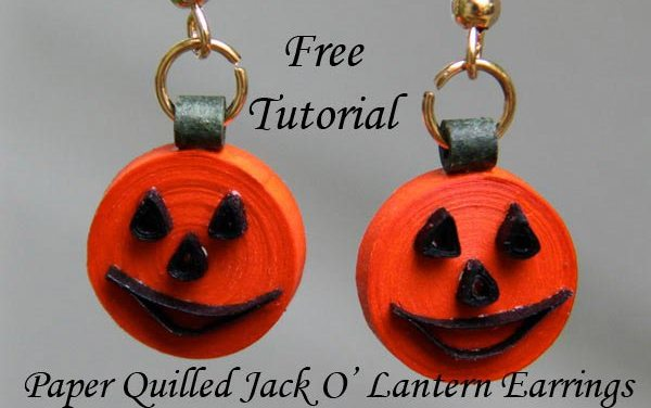 Tutorial for Paper Quilled Pumpkin Jack O' Lantern Earrings