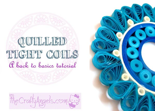 basic quilling - making a tight flat coil