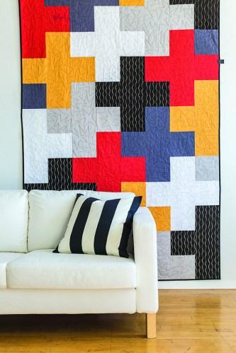 Modern Cross Quilt Pattern