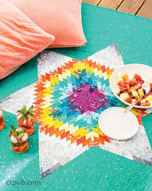70's Rainbow Star Quilt Pattern