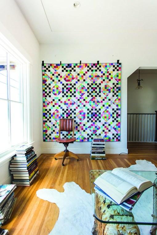 Scrap Pixelated Quilt Pattern