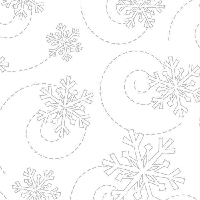 Maywood Studios Kimberbell Whites MAS8240-WW Snowflakes