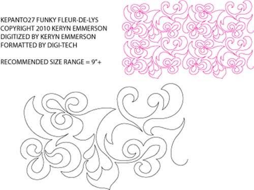 Funky Fleur De Lys pantograph