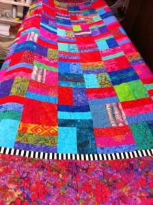 Batik Quilt with Inner Border
