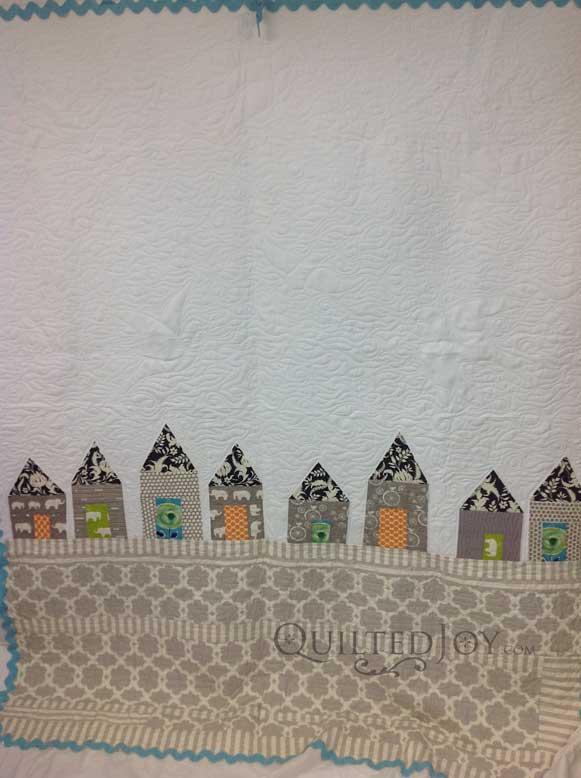 Seaside resort town quilt