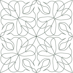 Digital quilting pattern