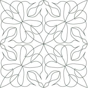 Digital quilting pattern