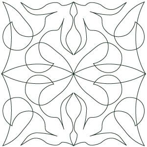 Digital long arm quilting designs
