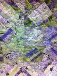 strip set quilt close up