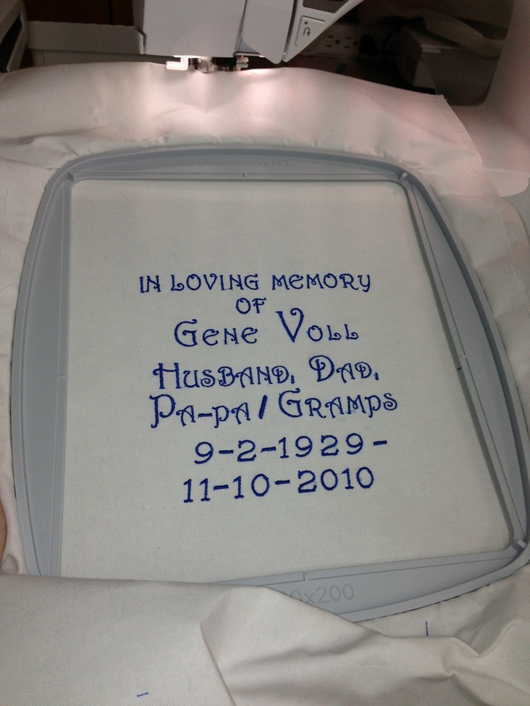 Label for Memory Quilt -