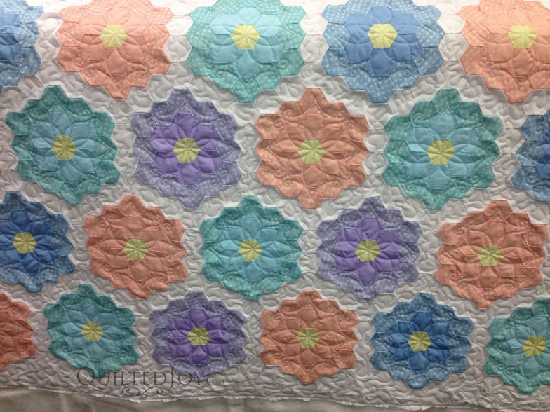 Grandmother 39 S Flower Garden Quilt Makeover