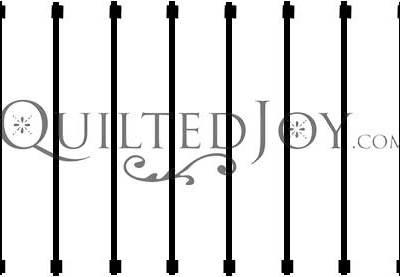 "2"" line Machine Quilting Guide Stencil"