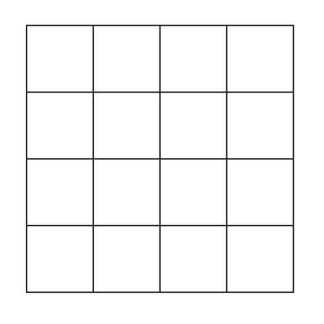 4x4 Grid Block Outline