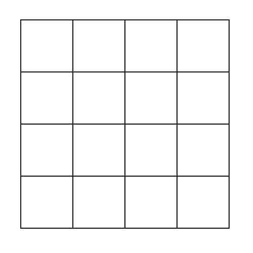 4x4 Grid Block Outline