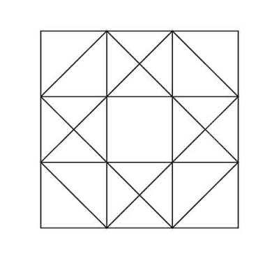 Ohio Star Half Square Triangles Block Outline