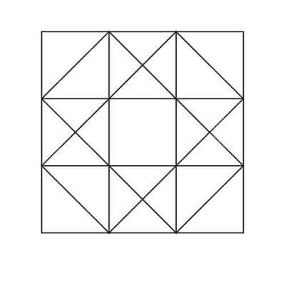 Ohio Star Half Square Triangles Block Outline