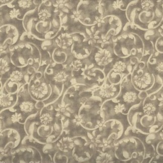 Dense tone on tone floral and vine pattern in Light Brown. Available at QuiltedJoy.com