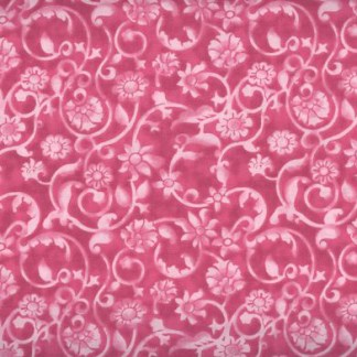 Dense tone on tone floral and vine pattern in pink. Available at QuiltedJoy.com