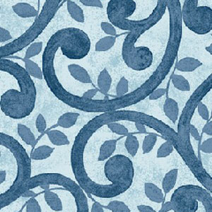"""Benartrex's Normandy Court in Blue. 108"""" wide back fabric for quilts. Available at QuiltedJoy.com"""