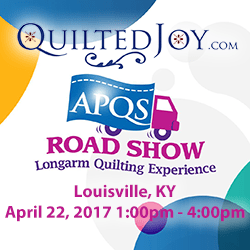 APQS Road Show at Quilted Joy on April 22, 2017 1-4pm