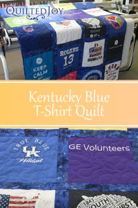 Kentucky Blue T-Shirt Quilt quilted by Angela Huffman