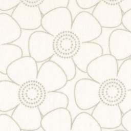 "Grey on White Tone on Tone Flower 108"" Wide Back Fabric, Available at QuiltedJoy.com"