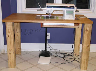 Charmant DIY Sewing Machine Table By QuiltedJoy.com