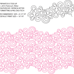 Toss Up pantograph designed by Patricia Ritter