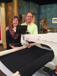 Angela Huffman and Patrick Lose on the Love of Quilting set - QuiltedJoy.com