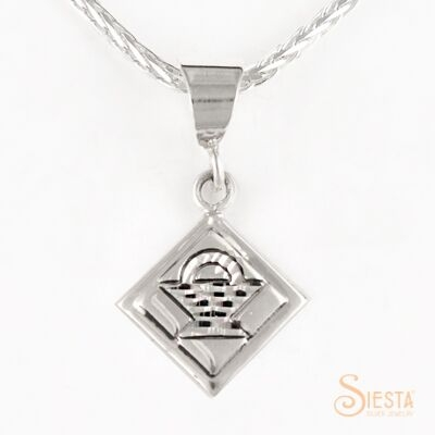 Mini North Star sterling silver pendant by Siesta Silver Jewelry. Available at QuiltedJoy.com