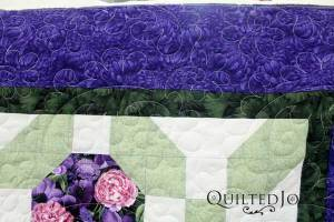 Pat's first quilt on a longarm machine!