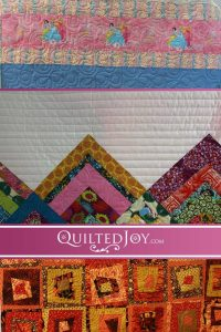 Angela Huffman, APQS dealer, quilts modern and wonky log cabins