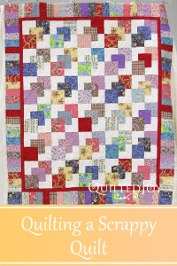 This customer quilt has lots of busy floral fabrics. Angela talks about the thought process when preparing a quilting plan for this scrappy quilt.