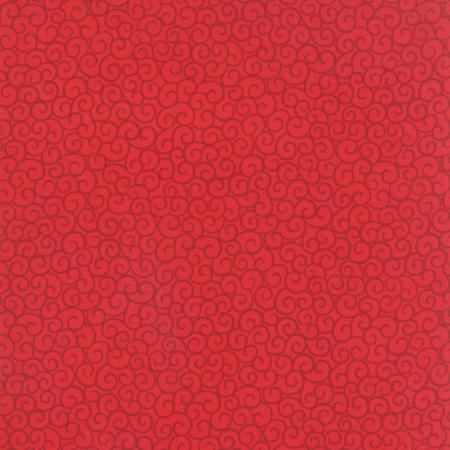 """Ho! Ho! Ho! - Red 108"""" wide quilt backing fabric"""