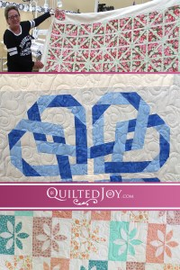 See how different one pantograph looks depending on what a quilt top looks like. Here are three quilts all using the Heart Fancy panto to different effect!