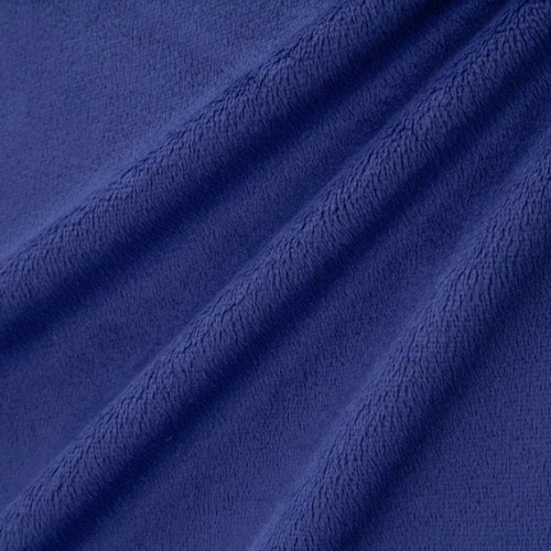 Extra Wide Solid Cuddle Minky 90 in wide fabric Midnight Blue