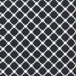 "108"" Wide Back: Black Circles"