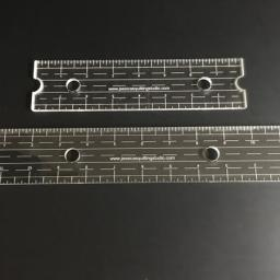 "Jessica's Edge Ruler, available in 8"" or 12"""