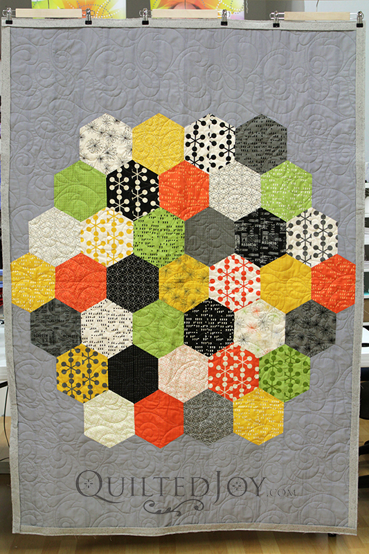 how to make a hexagon quilt with a machine