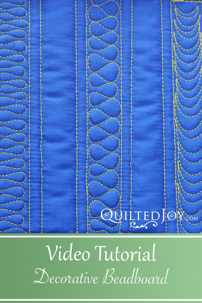 Learn how to machine quilt decorative beadboard in this video tutorial from Angela Huffman and APQS