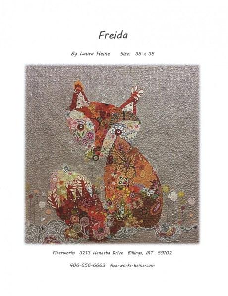 Freida Fox Fabric Collage Quilt Pattern by Laura Heine