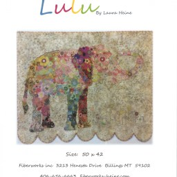 Lulu Elephant Fabric Collage Quilt Pattern by Laura Heine