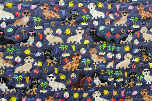 Dachshund fabric, perfect for the Dogs in Sweaters quilt