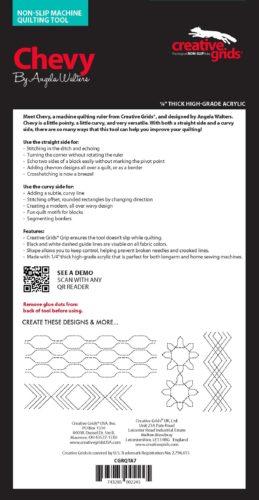 Chevy Machine Quilting Ruler idea sheet CGRQTA7