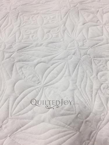 Close up of machine quilting on Patriot Quilt by Angela Huffman from the back of the quilt