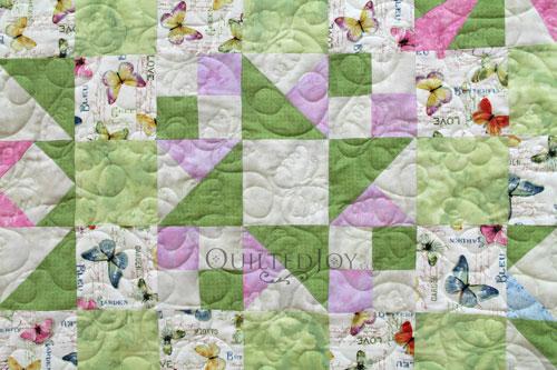 Friendship Star Block Variation in Mary Jo's Sampler Quilt