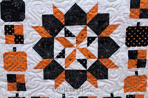 Star Block on the Boo To You Halloween Mystery Quilt