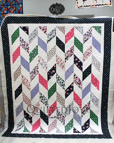 Colleen's Herringbone Quilt made with Derby Day Fabrics