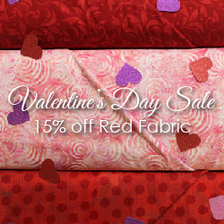 Valentine's Day Sale, 15% off Red Fabric, Feb 14-18, 2019